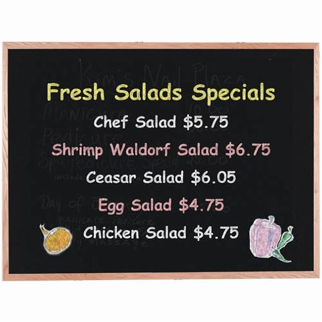 Aarco Products OC1218NT Display Style Black Chalkboard