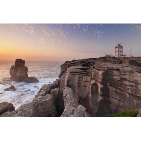 Cabo Carvoeiro lighthouse, Costa da Prata, Silver Coast, Peniche, Atlantic Ocean, Portugal, Europe Print Wall Art By Markus Lange