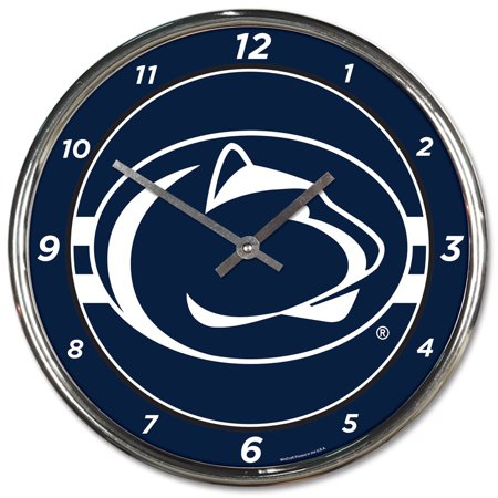 Wincraft Clock - Penn State Nittany Lions WinCraft Chrome Wall Clock - No Size