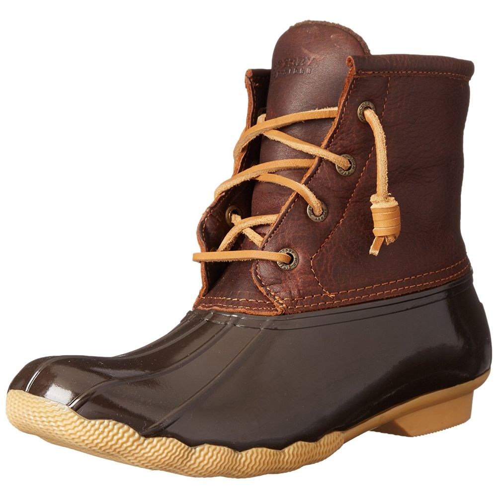 Sperry STS91176-060 Women's Saltwater Duck Boots, Tan Dark Brown, 6 M US by Sperry
