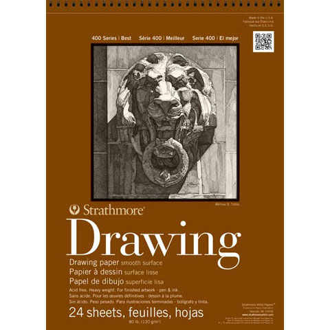 Strathmore Drawing Paper Pad - 400 Series - Cream - 80lb - 14 x 17 inches
