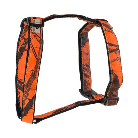 Mossy Oak Basic Dog Harness, Orange, X-Large- XSDP -24857-09 - The Mossy Oak Basic Dog Harness is a perfect choice for dogs while out in the field, in the water, or relaxing at home. This sturdy