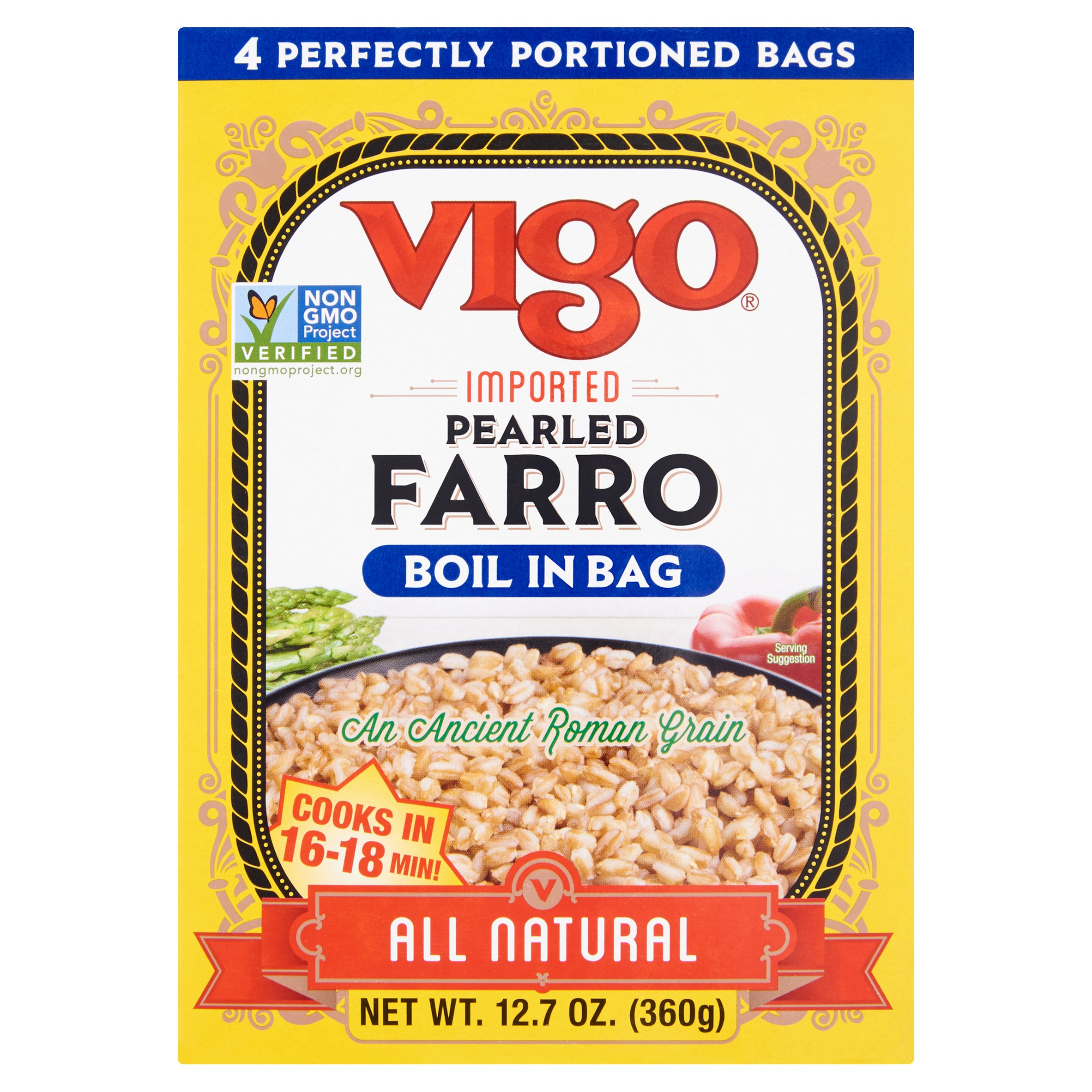 Vigo Farro Boil In Bag,12 Oz (Pack Of 6)