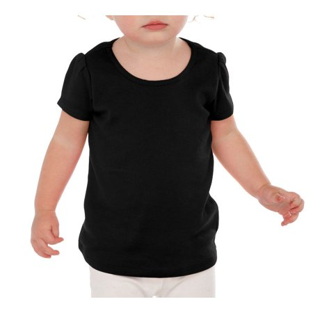 Kavio I1P0543 Infants Scoop Neck Puff Sleeve-Black-6M - Carribean Boys