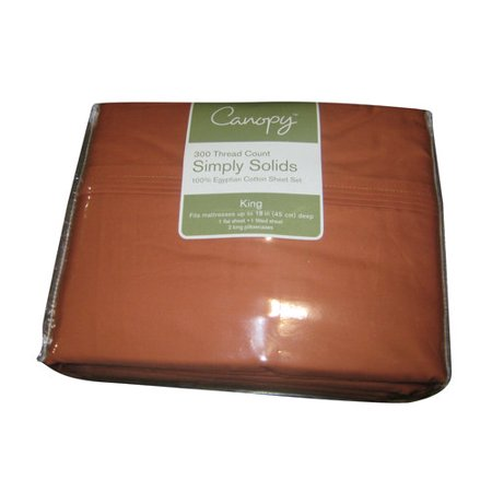 Canopy 300 Thread Count Simply Solid Bed Sheet Set 1 Each