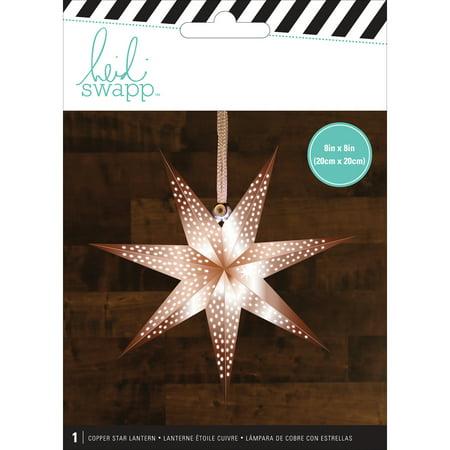 Heidi Swapp 7-Point Star Paper Lantern-Copper/Small, Pk 3, Heidi Swapp - Paper Star Lanterns