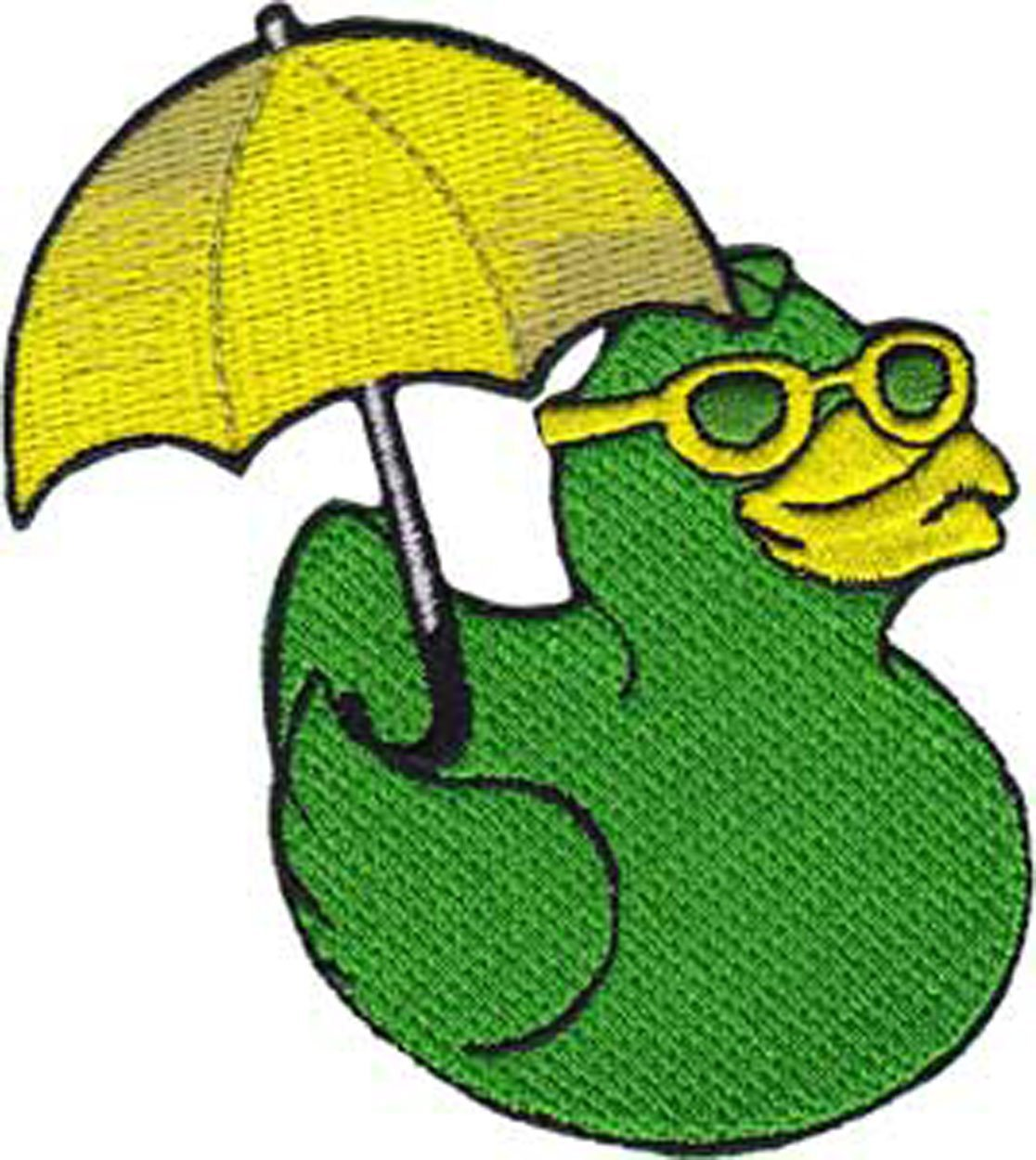 Patch - Animals - Rubber Duck with Umbrellas Iron On Gifts New Licensed p-4078