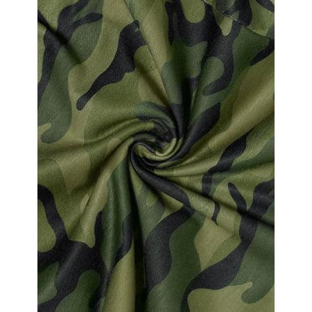 Women Plus Size Elastic Waist Stretch Camouflage Skinny Leggings Green 1X - image 2 of 7