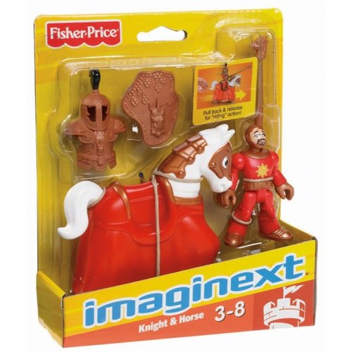 Fisher-Price Imaginext Good Knight and Horse Figures