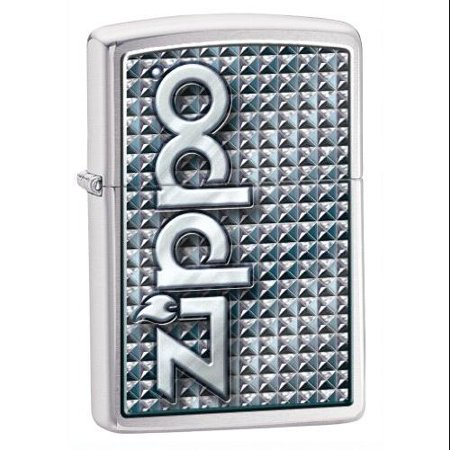 Zippo Brushed Chrome Timberwolves Emblem (Zippo ZIPPO 3D ABSTRACT 1 Brushed Chrome )