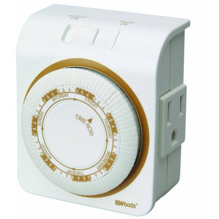 Woods 50002 Indoor 7 Day Heavy Duty Mechanical Outlet Timer