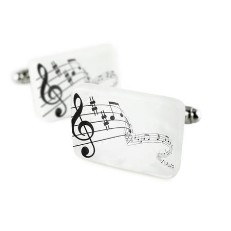 Cufflinks Music, notes Porcelain Ceramic NEONBLOND ()