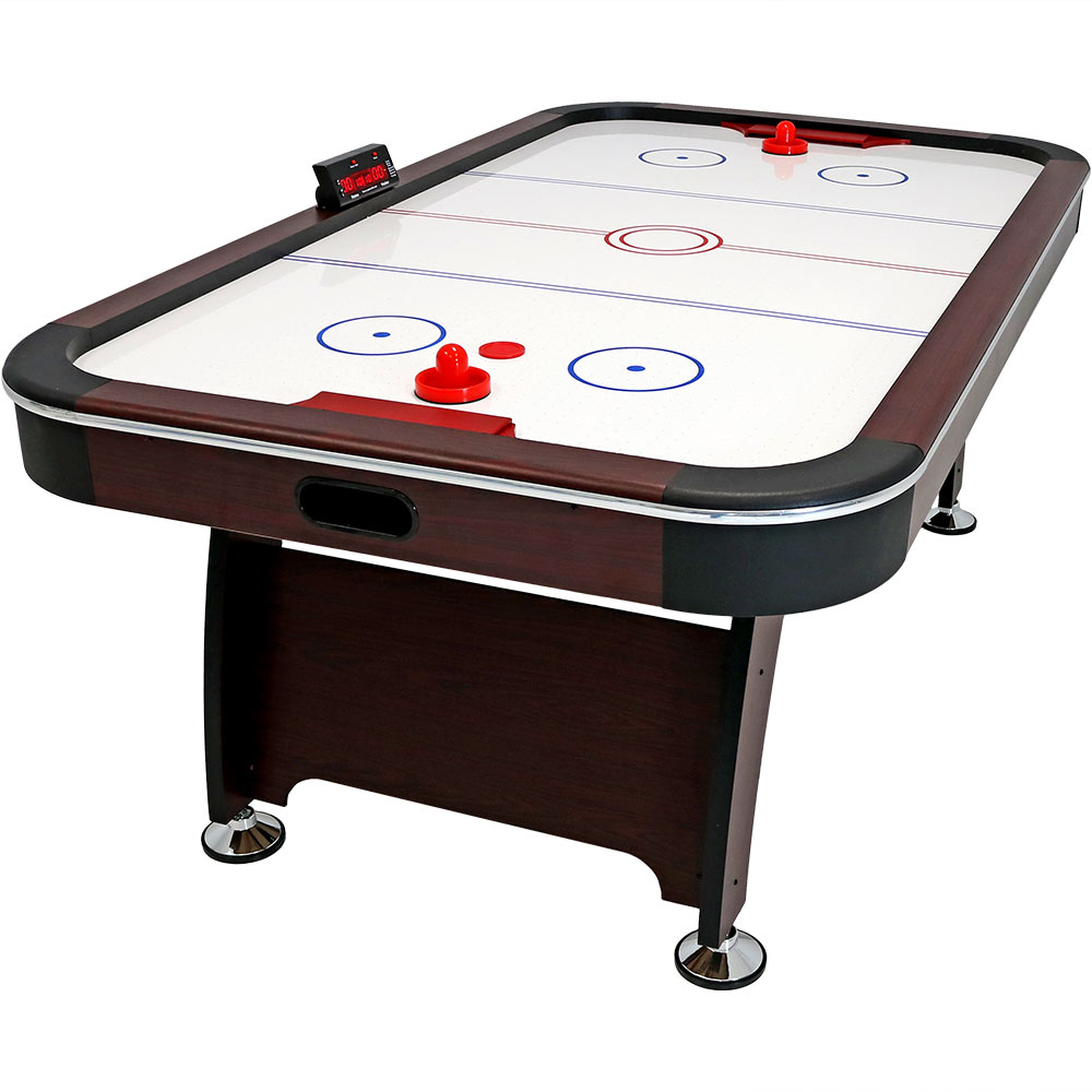 Sunnydaze 7-Foot Air Hockey Table, Sports Game for Arcade Room Includes Electric Scorer, Pushers, and Pucks by Sunnydaze Decor
