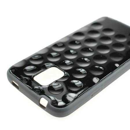 For Samsung Galaxy S5 - Hybrid Smooth Golf Ball Case Hard TPU Grip Cover in Black ()