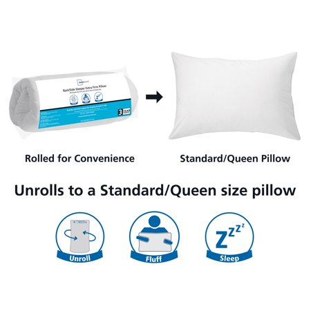 Mainstays Extra Firm Back & Side Sleeper Pillow, 1 Each