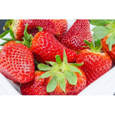 LAMINATED POSTER Strawberries Fruit Raspberries Fruits Bush Berries Poster Print 24 x - Strawberry Brush