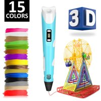 a015e337821 Product Image 3D Pen w/ 15 Different Color PLA Filament (150 Feet) - FREE  Stand