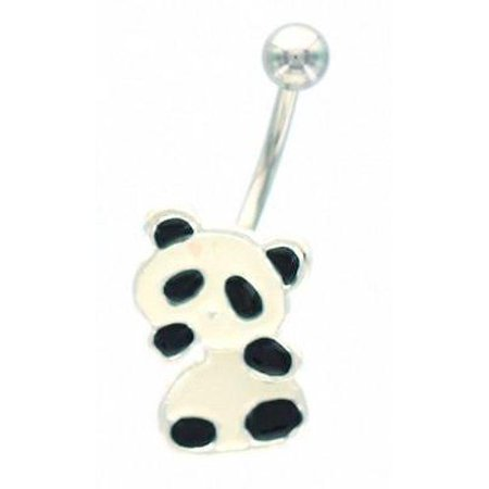 Belly Button Ring Navel Panda Bear Body Jewelry Dangle 14g