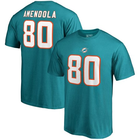 Danny Amendola Miami Dolphins NFL Pro Line by Fanatics Branded Authentic Stack Name & Number T-Shirt - - Miami Dolphins Print