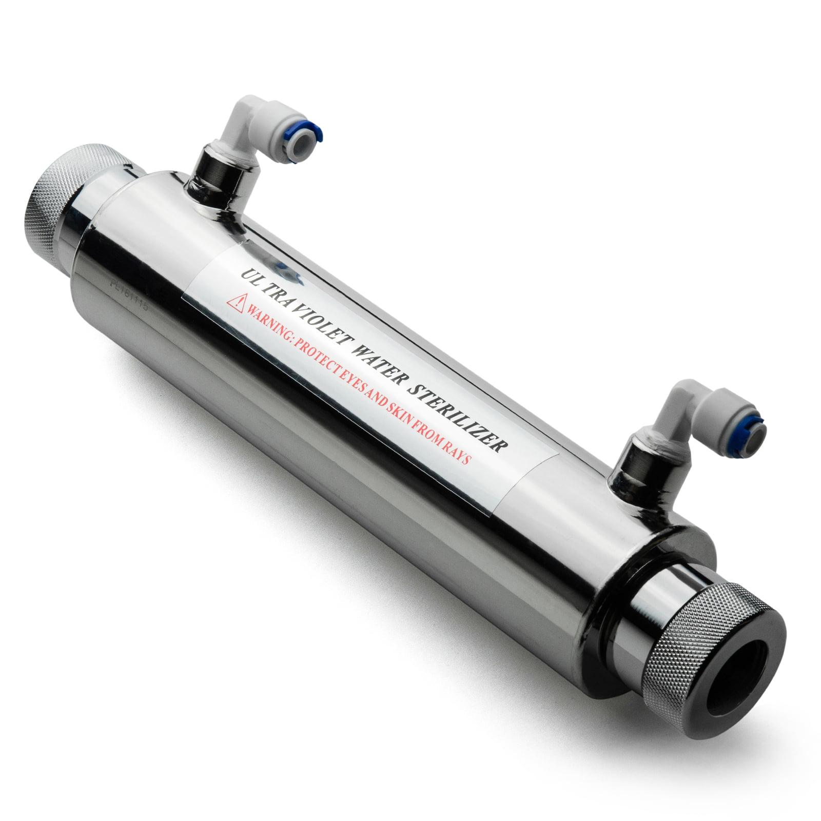 iSpring #UVF11A 11W 10 inch Ultra Violet UV Sterilizer with Smart Flow Control Switch 110V