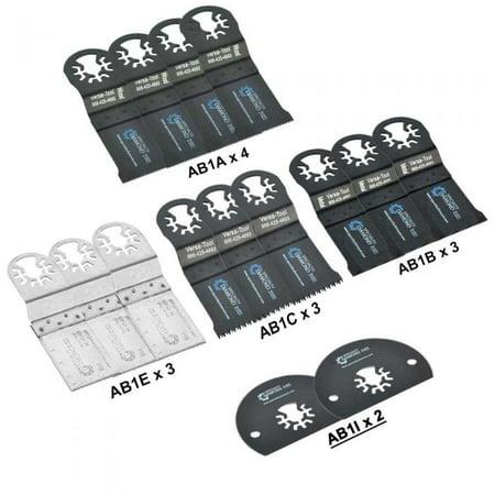Versa Tool ABMTKIT1 15 Piece Universal Oscillating Multitool Blade Accessory Combo Kit For Dremel Bosch