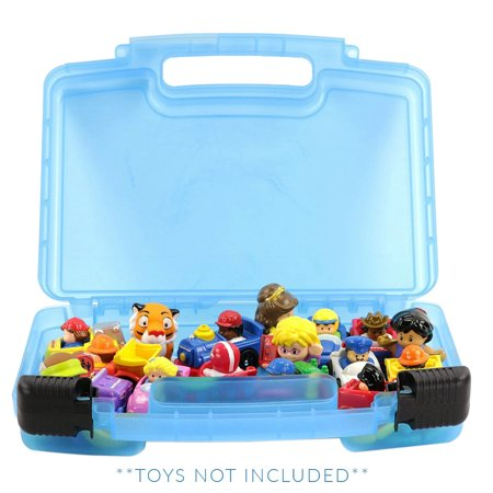 Small Figure Carrying Case - Little People Case, Toy Storage Carrying Box. Figures Playset Organizer. Accessories For Kids by LMB