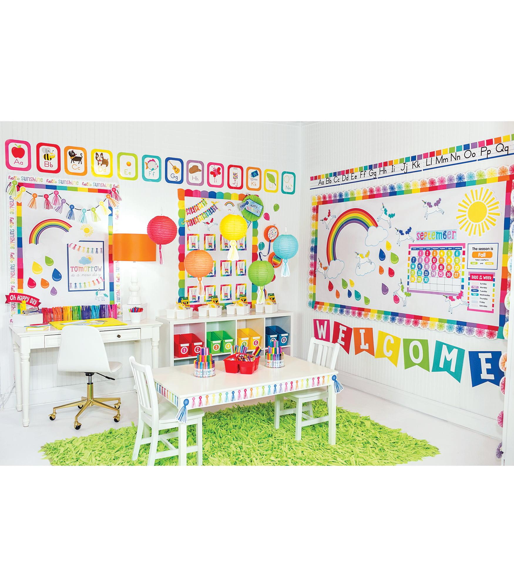Schoolgirl Style Hello Sunshine Collection Classroom Decor 439 Pieces Walmart Com Walmart Com