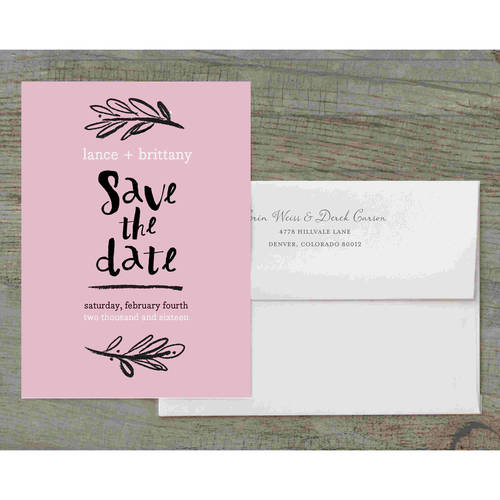 Woodside Script Deluxe Save The Date