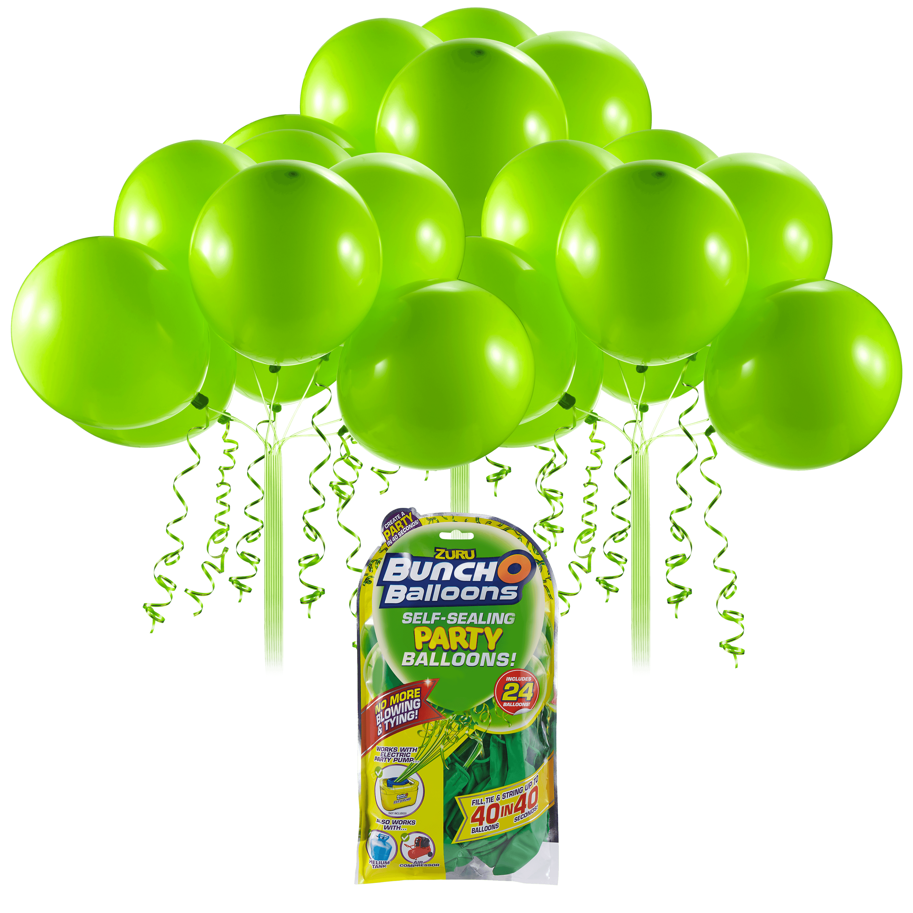 24 x White 11in Balloons by ZURU Bunch O Balloons Self-Sealing Latex Party Balloons
