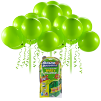Bunch O Balloons Self-Sealing Latex Party Balloons, Green, 11in, 24ct
