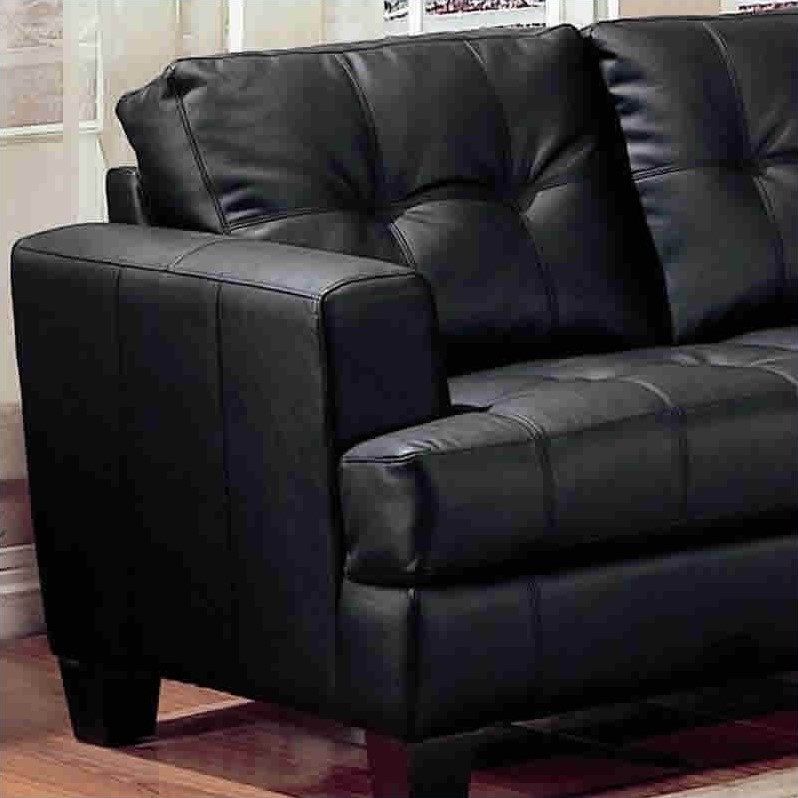 Coaster Samuel Bonded Leather Sofa, Multiple Colors Image 2 Of 3