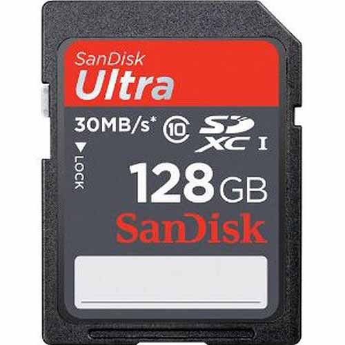 SanDisk 128GB Ultra SDXC Card