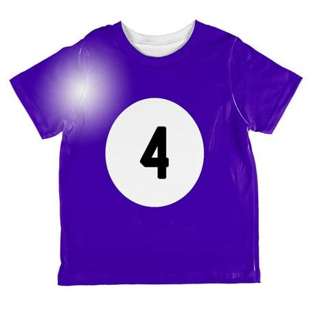 Halloween Billiard Pool Ball Four Costume Toddler T Shirt - Halloween 4 Cast Now