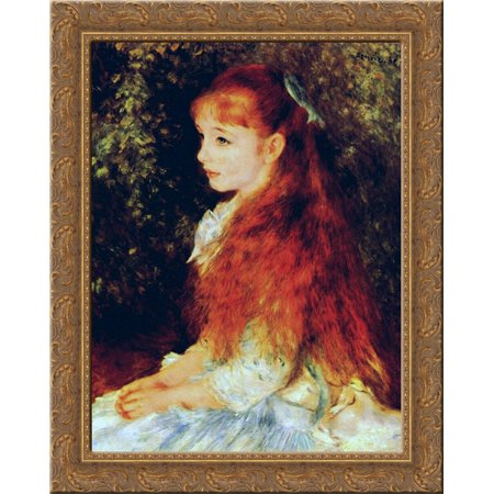 Mlle Irene Cahen d'Anvers 20x24 Gold Ornate Wood Framed Canvas Art by Renoir, Pierre - Pierre Auguste Renoir Gallery