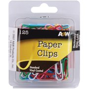 Paper Clips-Standard - Assorted Colors 125/Pkg