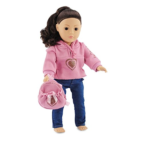 "18 Inch Doll Clothes Heart Hoodie Set Fits American Girl Dolls Includes 18""... by Emily Rose Doll Clothes"