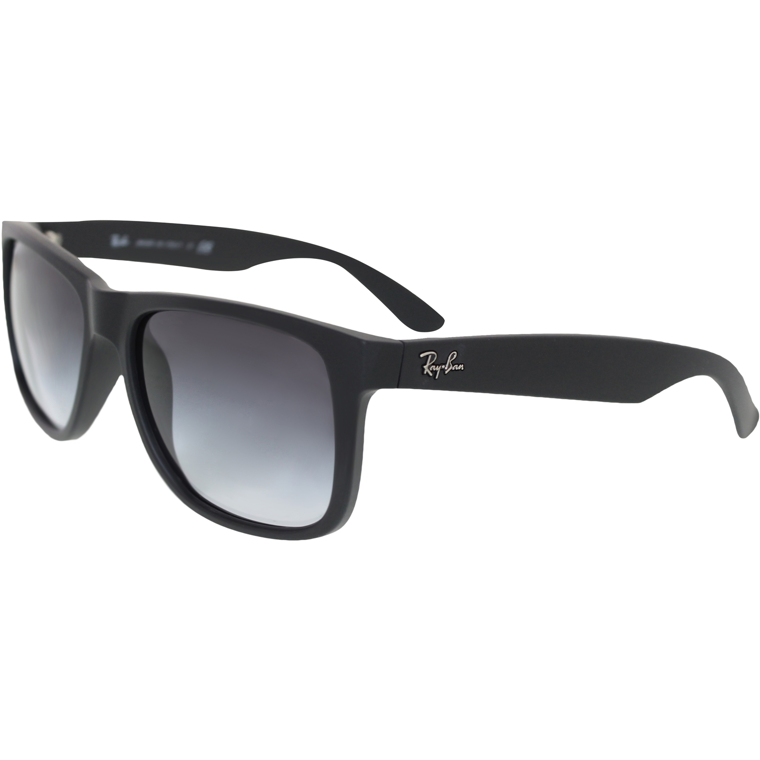 black wayfarer glasses  Ray-Ban Men\u0027s Justin RB4165-601/8G-55 Black Wayfarer Sunglasses ...