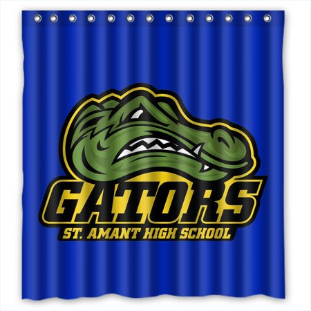 DEYOU Florida Gators Shower Curtain Polyester Fabric Bathroom Size 66x72 Inches
