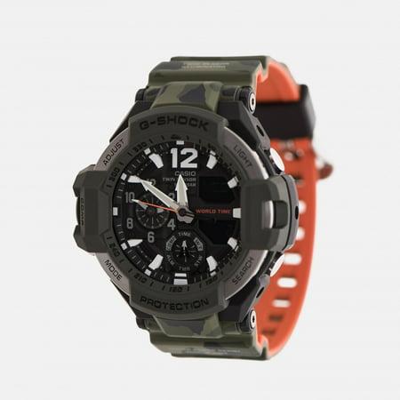 G-shock Gravitymaster Olive Green Camouflage/Orange GA1100SC-3A Mens Pilot Watch Fighter Pilot Watch