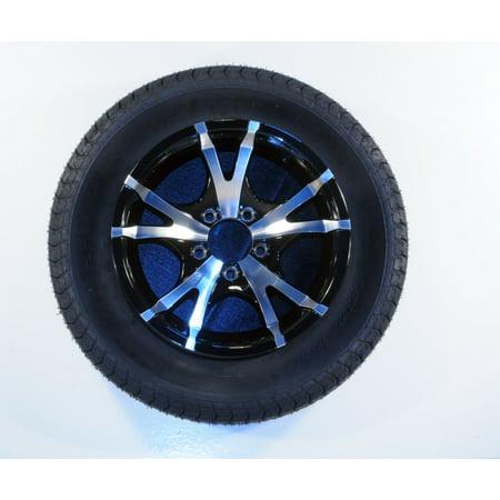 - Eco Trailer Tire & Rim ST205/75D14 Load C 5 Lug Aluminum T07 V-Black Spoke 58866