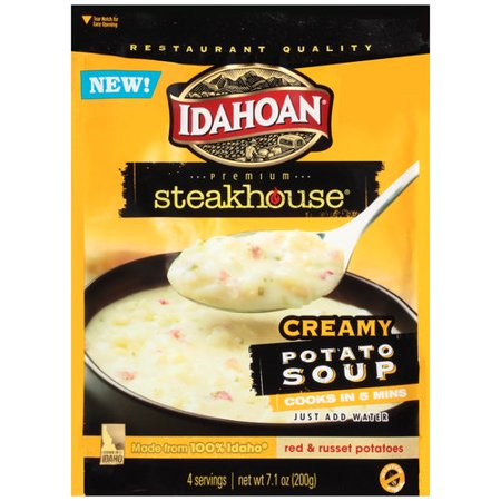 Idahoan Steakhouse Creamy Potato Soup Mix, 7.1 oz