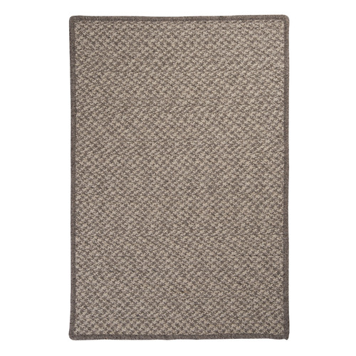 Colonial Mills Natural Wool Houndstooth Braided Latte Area Rug