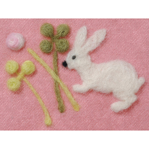 Clover Felting Needle Applique Mold, Clover and Rabbit