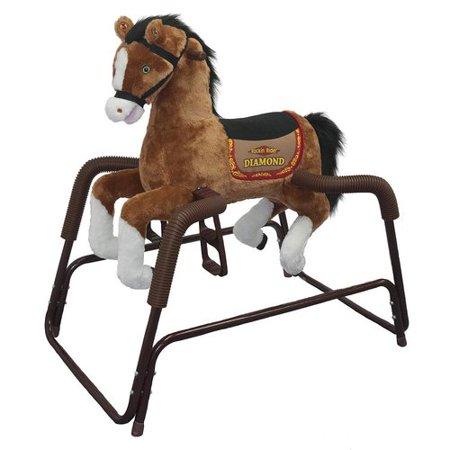 Rockin\' Rider Diamond Spring Rocking Horse - Walmart.com