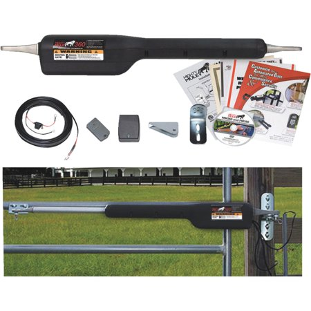 Mighty Mule MM360 Automatic Gate Opener for Medium Duty Single Swing Gates for 16' Long or 550 lb (Swing Door Opener)