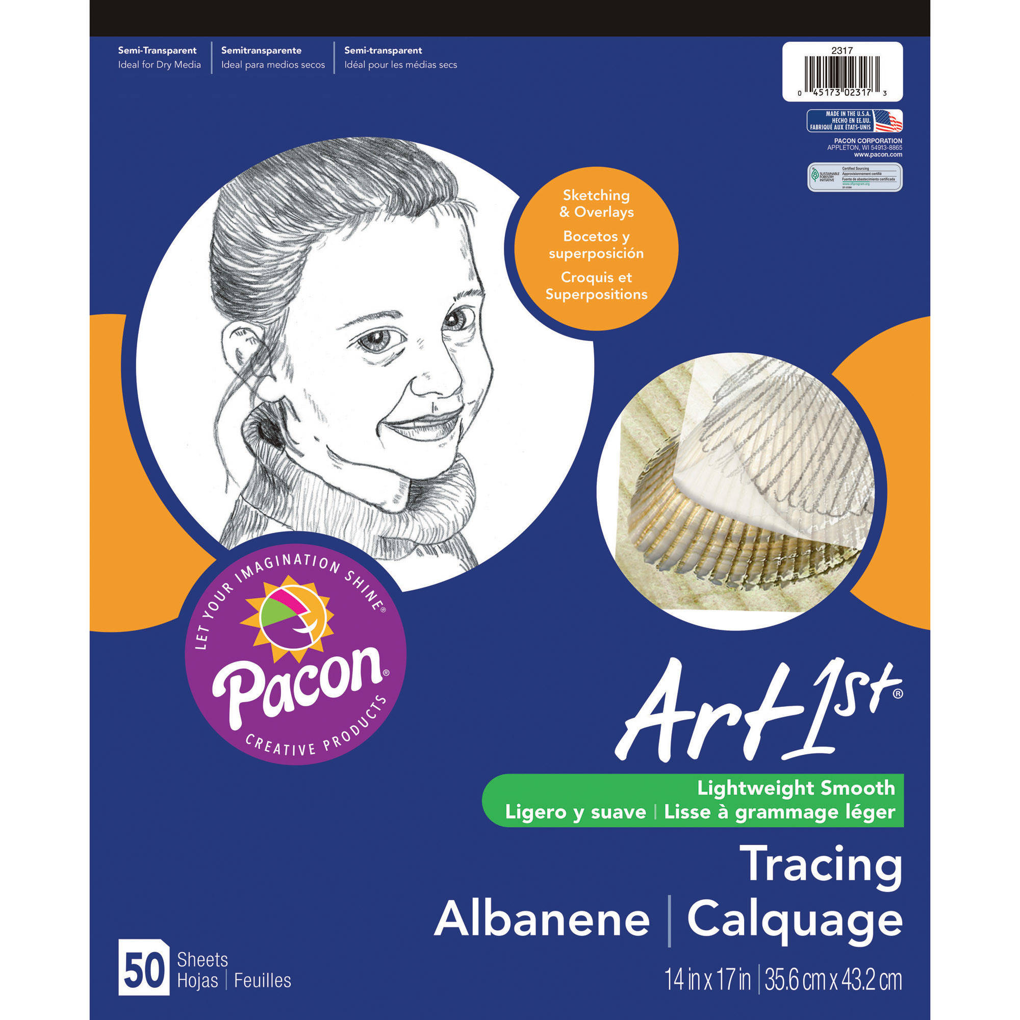 "Art1st Tracing Pad, 14"" x 17"", 50 Sheets"