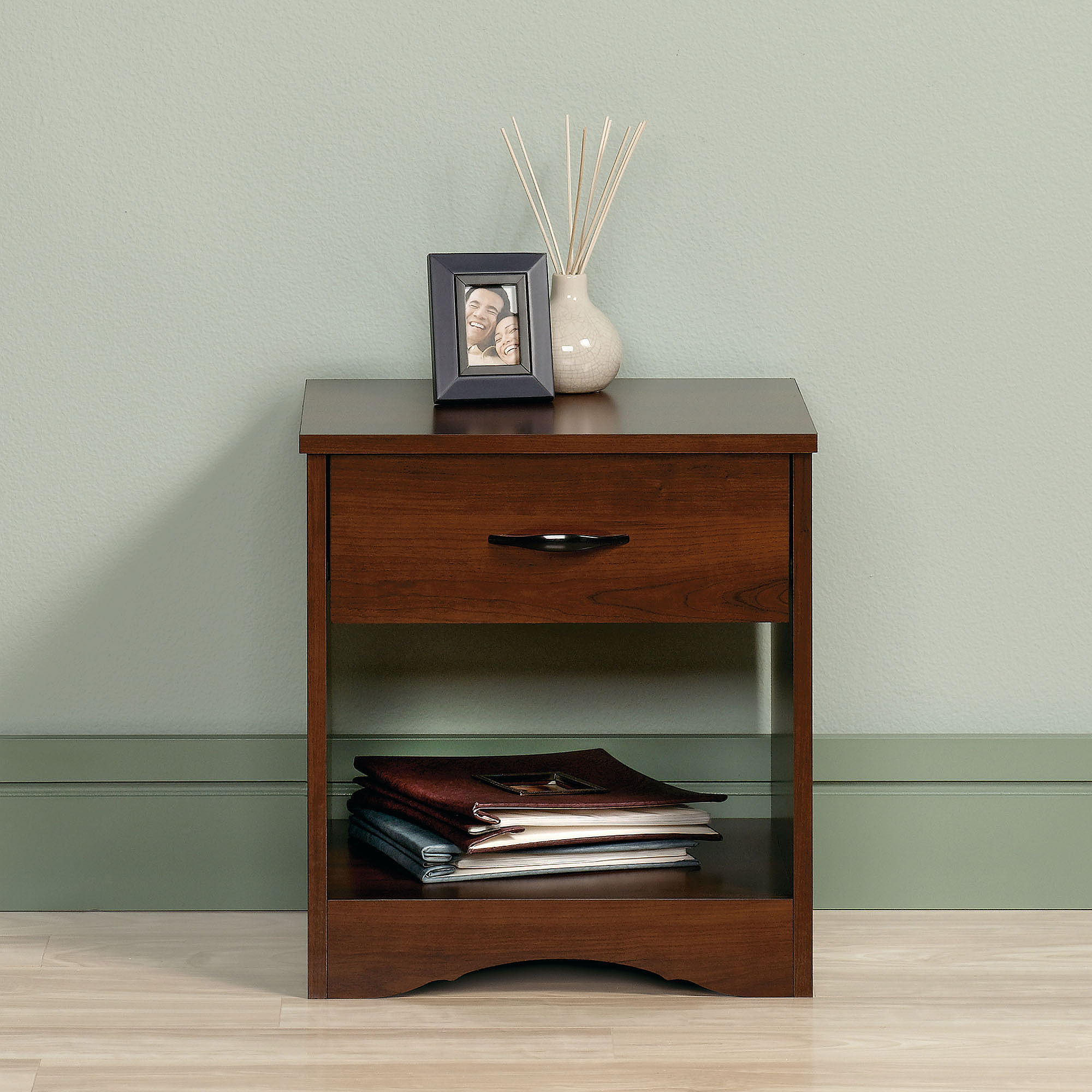 Sauder, Beginnings Nightstand, Brook Cherry