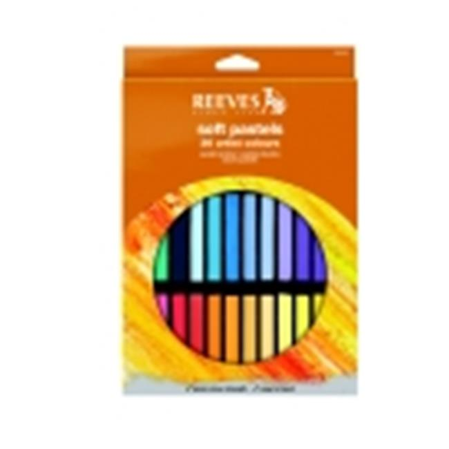 Reeves Non-Toxic Water Soluble Soft Pastel Set - 0.38 x 0.38 x 2.5 in. - Assorted Color, Set - 36