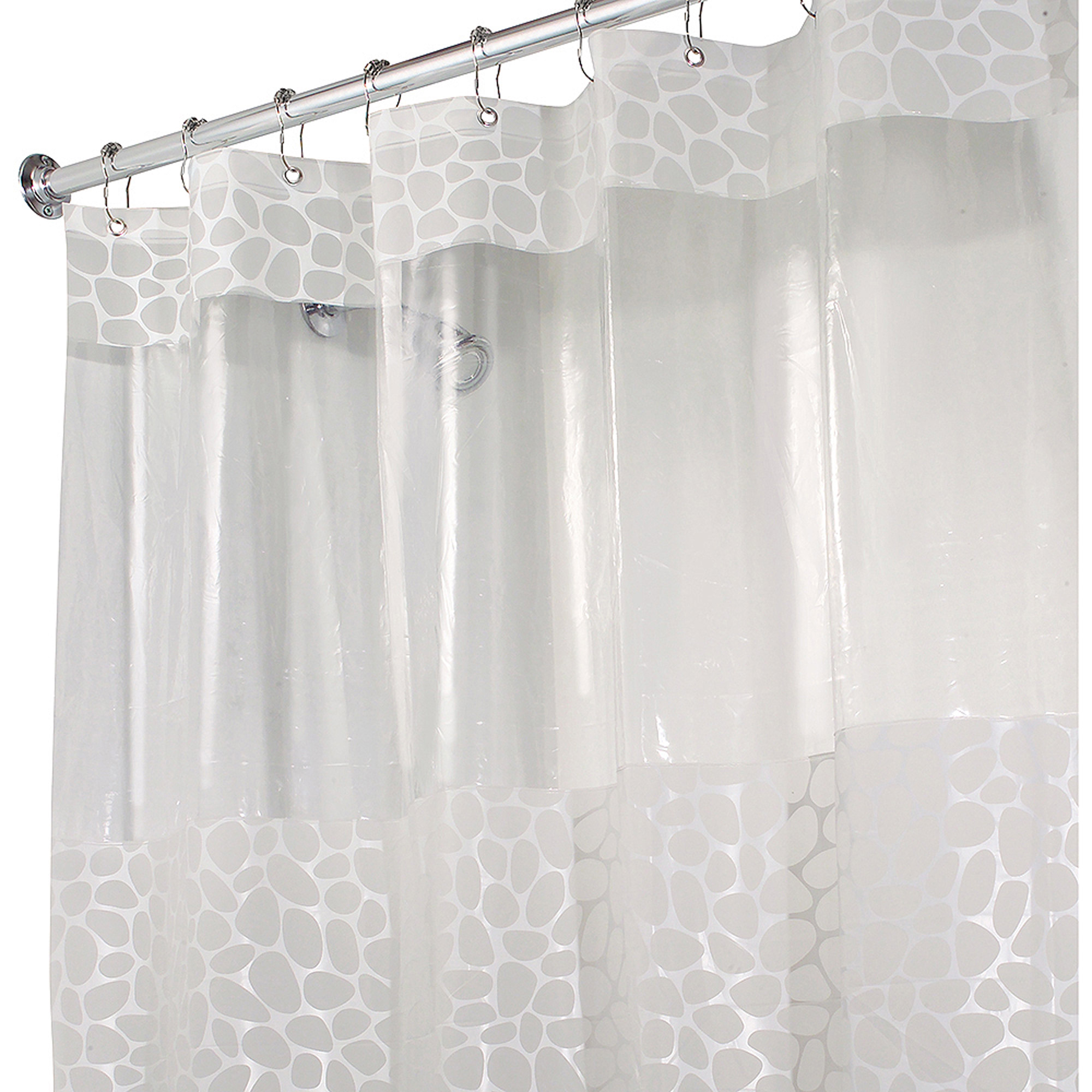 InterDesign Pebblz View PEVA Shower Curtain