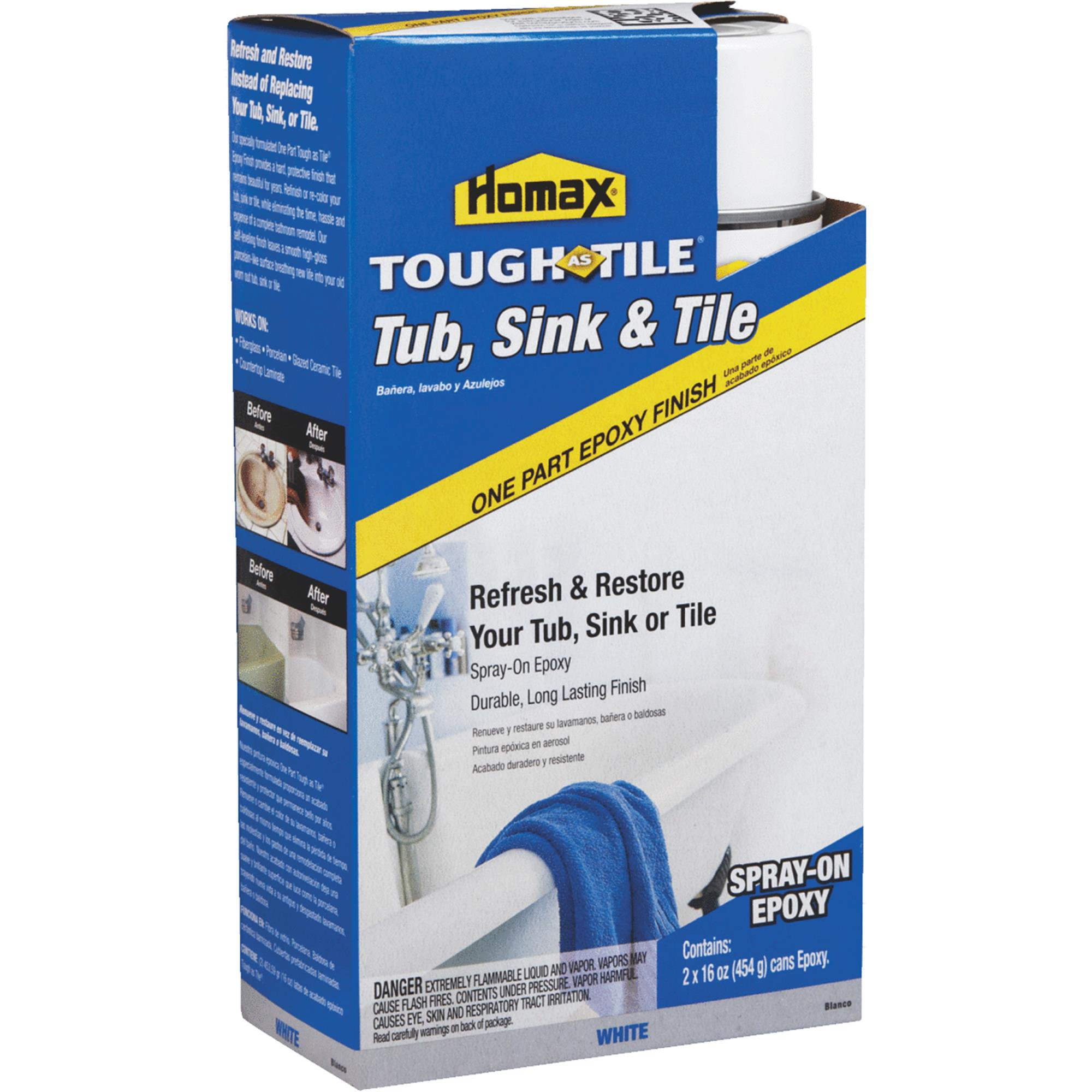 Cool Homax Tough as Tile Epoxy Tub & Tile Spray Paint Minimalist - Contemporary epoxy tub paint Model
